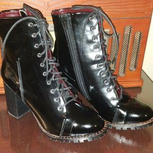 REPORT Signature Black Allon Patent Leather Boots